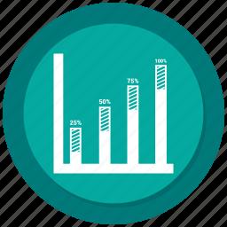 bar, bar chart, business, chart, dollar, graph icon