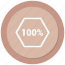 full, hundred, one, percent icon