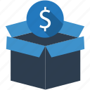 box, dollar, gift, pack, seo, seo pack, service icon
