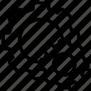 gear, internet, operational, seo, website icon