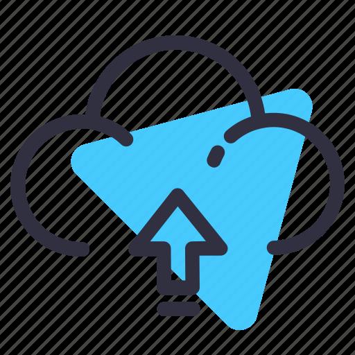 arrow, cloud, net, up, upload icon