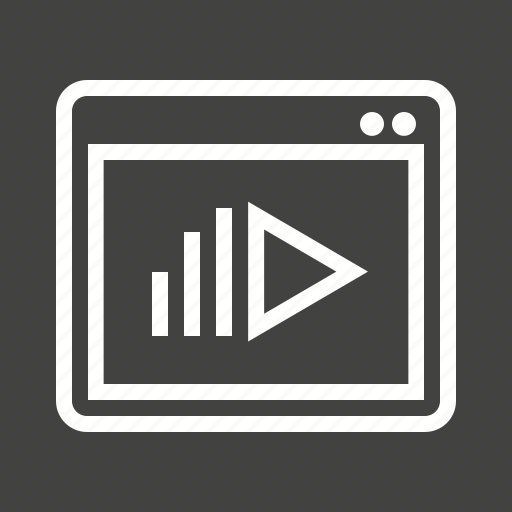 internet, laptop, marketing, monitor, music, online icon