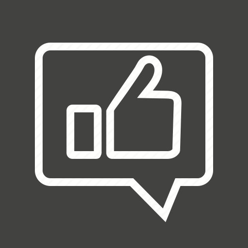 feedback, like, message, thumbs, up icon