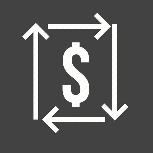 dollars, investment, money, on, return icon
