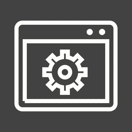 laptop, monitor, optimization, setting, web icon