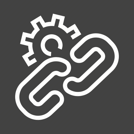 building, link, seo, settings icon
