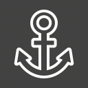 anchor, equipment, metal, ring, shank, war icon