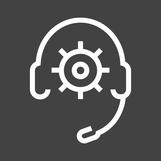 head, set, settings, support, technical icon