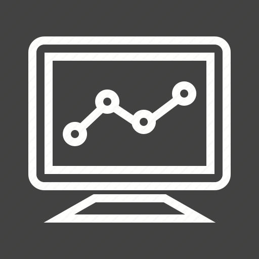 graph, monitor, progress, statistics icon