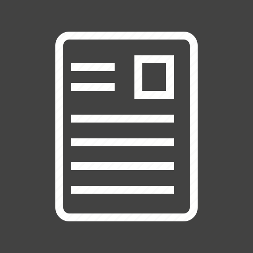 article, catalogue, journal, profile icon