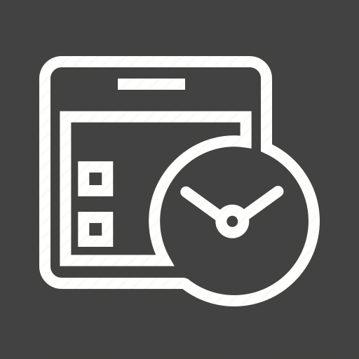 calender, clock, planning, schedule, table, time icon