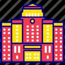 asian, city, cityscape, landmark, seoul, seoul city hall, travel icon