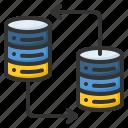 database, storage, server, connection