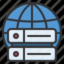 server, database, storage, network, connection