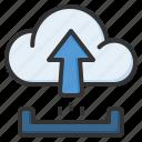upload, storage, arrow, up, cloud, network