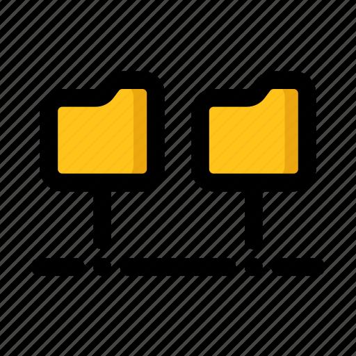 Data, folder, lan, network, storage icon - Download on Iconfinder