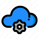 cloud, gear, maintenance, service icon