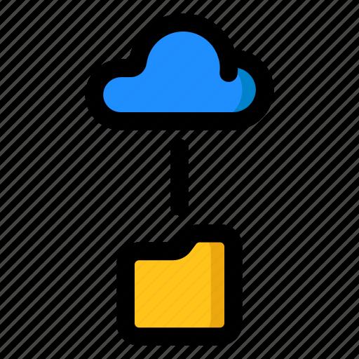 Cloud, folder, link, storage icon - Download on Iconfinder