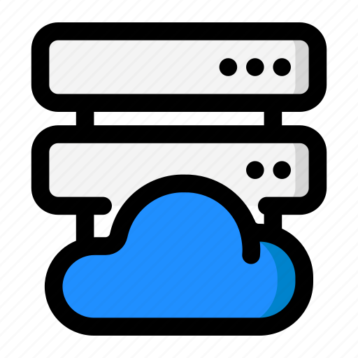 cloud, database, hosting, network, server icon