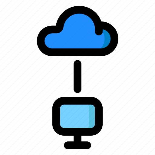 Cloud, connect, network, pc, server icon - Download on Iconfinder