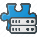 addon, data, database, plugin, server, storage icon
