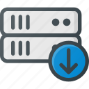 data, database, download, server, storage icon