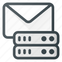 data, database, mail, server, storage