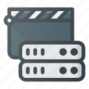 data, database, medial, server, storage icon