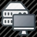 data, database, monitor, server, storage, view
