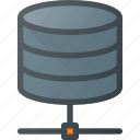 data, database, network, server, storage icon