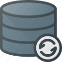 data, database, refresh, server, storage icon