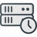 data, database, server, storage, time, timeout icon