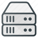data, database, server, storage, tower icon