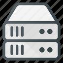 data, database, server, storage, tower