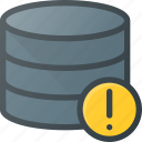 allert, data, database, server, store icon