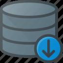 data, database, download, server, store