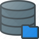 data, database, folder, server, store icon