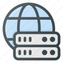 data, database, global, server, store icon