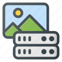 data, database, image, server, store icon
