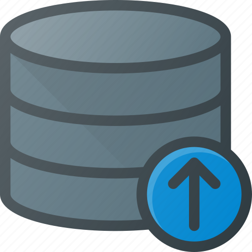data, database, server, store, upload icon
