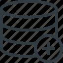 add, data, database, server, store