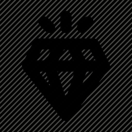 diamond, luxury, quality, service, shine icon