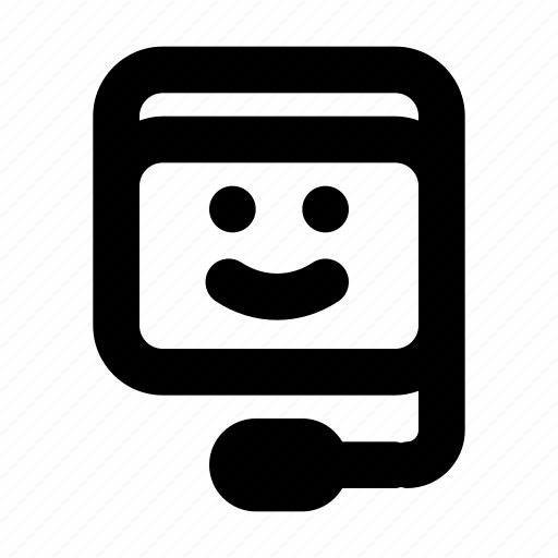 friendly, headset, phone, smile, support icon