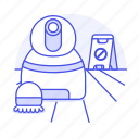 a, automatic, caution, cleaning, floor, frame, robot, services, tidy, up, vacuum icon