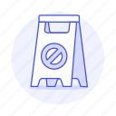 a, block, caution, cleaning, floor, frame, services, sign, warning, wet icon