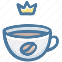 king, coffee, cup, dring, crown, award, hot