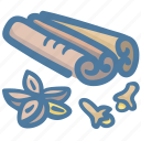 cinnamon, food, ingredient, ingredients, seasoning, spice icon