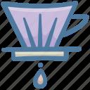 barista, coffee, coffee maker, cone, filter, filtercone icon