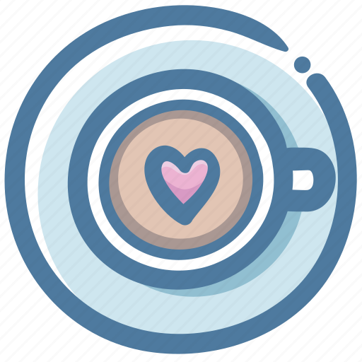 coffee, cup, favorite, heart, hot, love, valentine icon