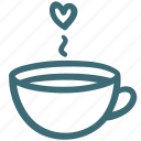 cup, heart, love, lovers, passion, valentine icon